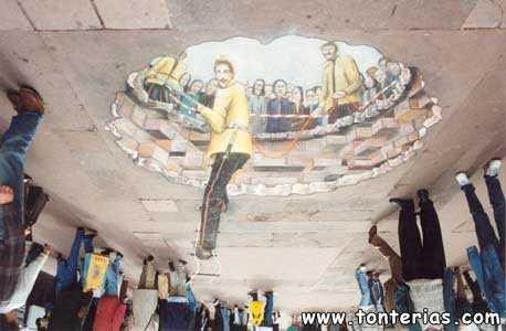 Artistas callejeros con mucho arte