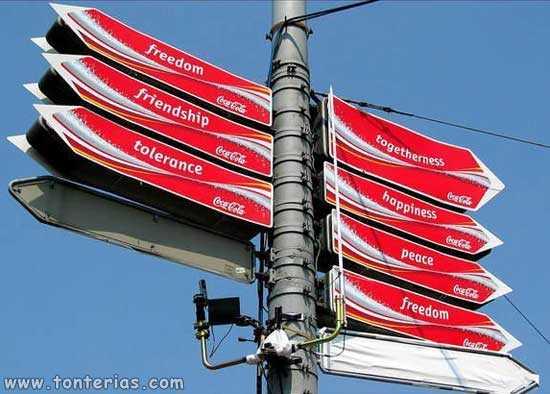 Señales de tráfico Coca-Cola
